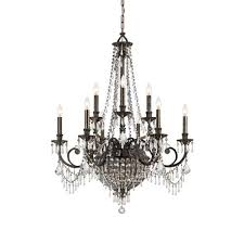 camelot two tier center bowl chandelier