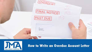 Overdue Account How To Write An Overdue Account Letterjma Credit Control Jma