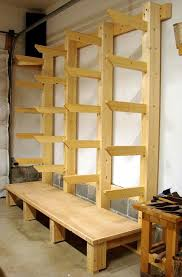 wood storage rack. wood storage workshop, new shop rack. rack pinterest