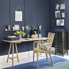 blue home office. Moody-blue Home Office With White Flooring Blue E