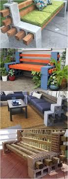 cinderblock furniture. Cinder Block Furniture Backyard Bench Table And More Cinderblock C