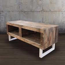 fine wood reclaimed wood media console white steel legs free jw atlas co intended console e