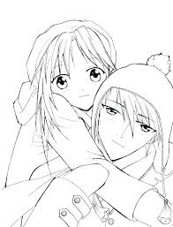 Emo Girl Coloring Pages Anime Couple Sheets Wolf Cute Girls Book App