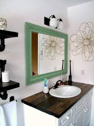 Custom Bathroom Countertops Adorable Rustic Wood Vanity DIY Wood Counter Top Bathroom Makeover Budget