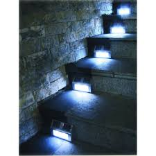 stair step lighting. Good Nature Power Bronze Step Lights Pack The Home Depot With Stair Lights. Lighting I