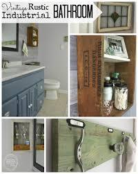 vintage rustic industrial bathroom on a budget