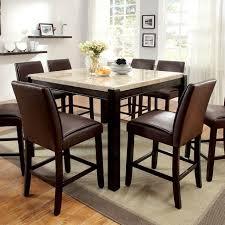 gladstone dark walnut counter height dining table set