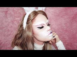 my makeup version 30 going for a jessica rabbit look image is loading rabbit eyes mask nose whiskers costume xotic makeup