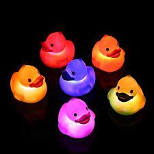 Light Up Rubber Duck Fun Central 6 Pack Light Up Rubber Ducks Liquid Activated Duckies Bulk Bath Toys