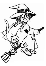Small Picture Witch coloring pages flying with cat ColoringStar