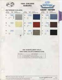 Details About 1981 Subaru Hatchback Sedan Hardtop Station Wagon Brat Color Paint Chips Chart