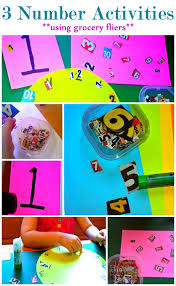flyers numbers number activities using grocery flyers preschool activities and