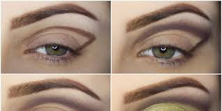 smooth green and brown eyeshadow makeup