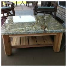 Custom Outdoor Patio Table with Granite Top This one was just
