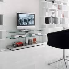 contemporary tv cabinet glass stainless steel