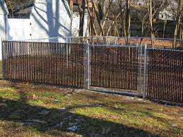 chain link fence slats brown. 215_galvanized-chainlink-with-brown-privacy-slats Chainlink - Forrest Fencing Chain Link Fence Slats Brown B