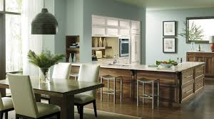 Dynasty Omega Kitchen Cabinets Kitchen With Painted Maple And Walnut Cabinets Omega