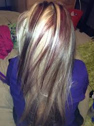 Blonde With Dark Brown Red Highlights