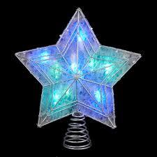 Homebrite 12u0027 Multi Color OutdoorIndoor LED Tree Lighted Star Christmas Tree Lighted Star