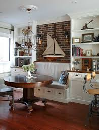 Designs Ideas:Large Stunning Banquette Breakfast Nook With Hidden Storage  Also Brown Chairs Artistic Small