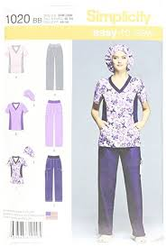 Scrub Top Patterns Unique Amazon Simplicity EasytoSew Pattern 48 Women's Scrub Top