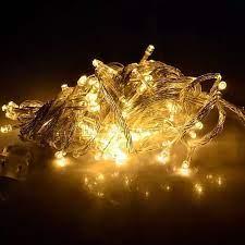 Dây đèn Led chớp nháy trang trí màu vàng trắng 3m5 bóng tiêu, dây đèn led  chớp nháy, dây đèn trang trí