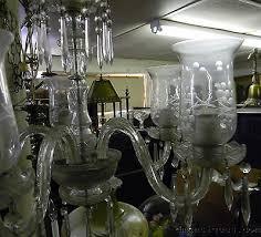 5 of 12 vintage etched crystal chandelier 5 arm hurricane glass shades fl prisms