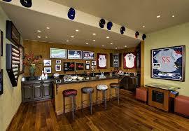 beautiful sports bar wall decor as well as sports decorating ideas basement mediterranean with wet bar wall