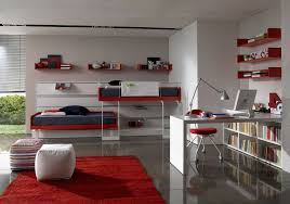 red home office. Stunning And Briliant Design Idea Of A Red-colored Home Office In Spacious Bedroom Red F