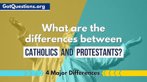 Lutheran And Catholic Differences Chart What Are The Differences Between Catholics And Protestants