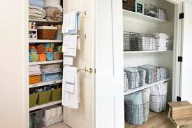 Bathroom Closet Organization Ideas Amazing 48 Linen Closet Organization Ideas That Also Looks Beautiful