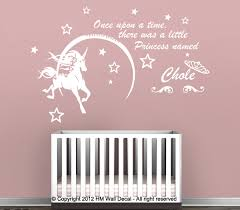 personalised name unicorn stars wall sticker for who desire something special