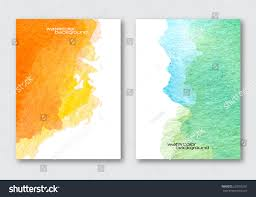 Poster Templet Vector Poster Template Hand Drawn Watercolor Stock Vector Royalty