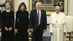 Image result for Photos of Melania Trump with veil and rosary