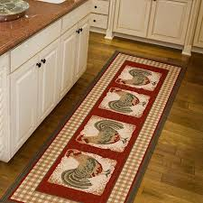 get ations orian country rooster runner rug spanish red