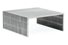 table novel square coffee table stainless steel zuo modern sojourn