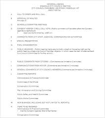 10+ Informal Meeting Agenda Templates Free Word, Pdf Formats