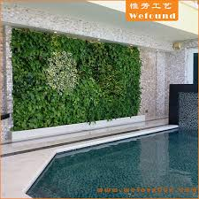 artificial plant vertical green wall for home hotel garden swimming pool decoration