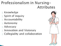 Professionalism In Nursing Professinalism And Legal Issues Community Health Nursing Ppt