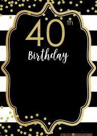 Free Online Birthday Invitations To Email 025 Free 40th Birthday Invitations Templates Template Ideas