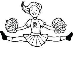 Mouse Cheerleader Coloring Pages Printable Mouse Cheerleader