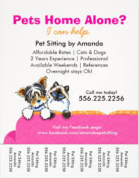 Pet Sitter Business Cards Pawsitively Purrfect Choices For The Pet Sitting Business For Pet