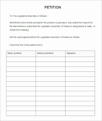 Template For Petition Petition Form Template Elegant Blank Petition Template Petitions