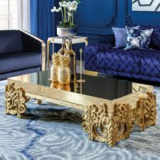 contemporary mirrored furniture. Contemporary Mirrored Gold Baroque Coffee Table, Discover Amazing Exclusive Leaf Furniture At