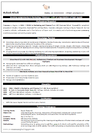 Mba Resumes For Freshers Finance Resume Title For Mba Finance