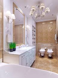 Helles Badezimmer Klassischen Stil Charming Geräumiges Badezimmer