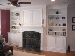 fireplace. bookcases around stone fireplace pictures to pin on ...
