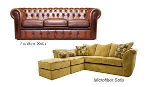 leather and microfiber sofa