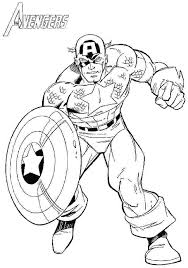 Exotic Captain America The Winter Soldier Coloring Pages N3309
