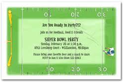 Super Bowl Invitations Football Party Invitations